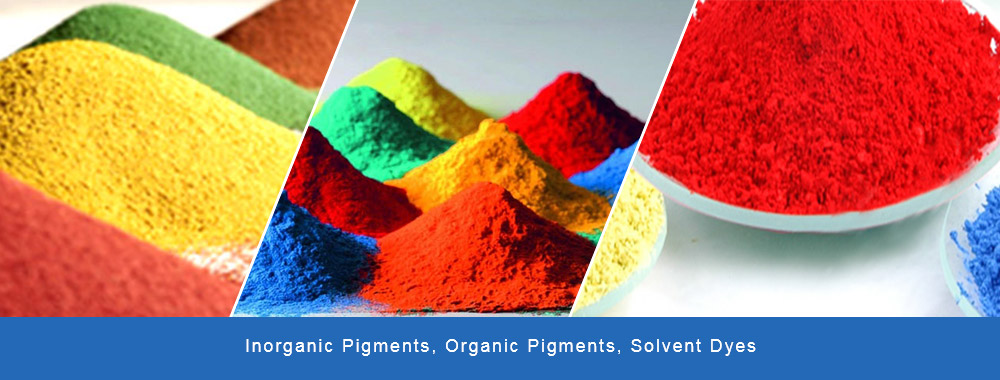 Inorganic Pigments, Organic Pigments, Fluoresecent Pigments, Pigment Preparations, Solvent Dyes, Dyestuffs